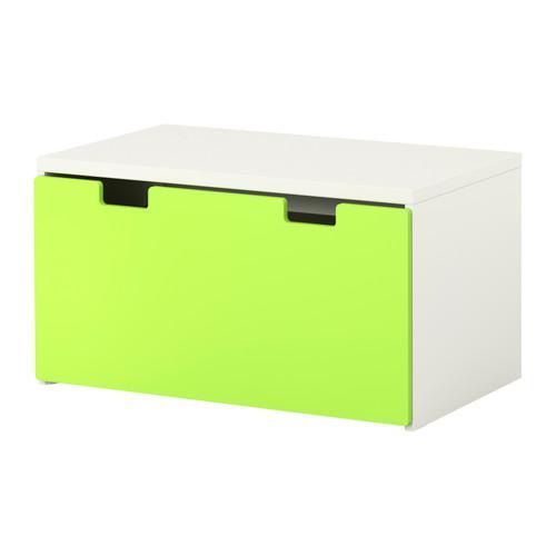 СТУВА Скамья с ящиком - белый/зеленый