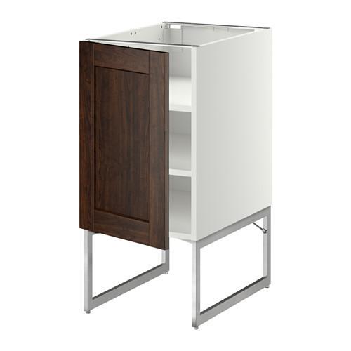 МЕТОД Напольный шкаф с полками - 40x60x60 см, Эдсерум под дерево коричневый, белый