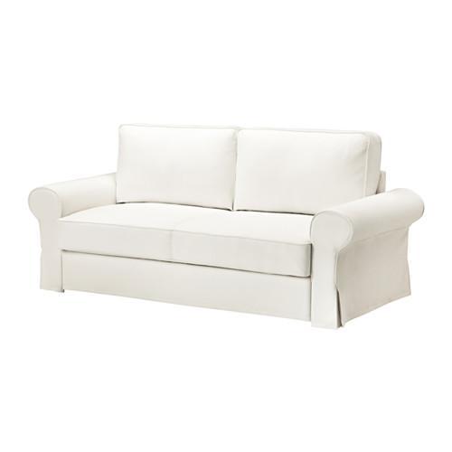 БАККАБРУ Чехол на 3-местный диван-кровать - -, Хильте белый