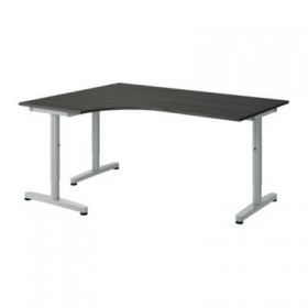 GALANT Corner desk left Letter - black-brown T-leg