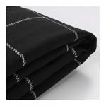 ИКЕА ПС Чехол на 2-местный диван-кровать - Руте черный/белый, Руте черный/белый