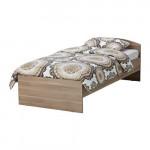 ТОДАЛЕН Каркас кровати с изголовьем - серо-коричневый, 90x200 см