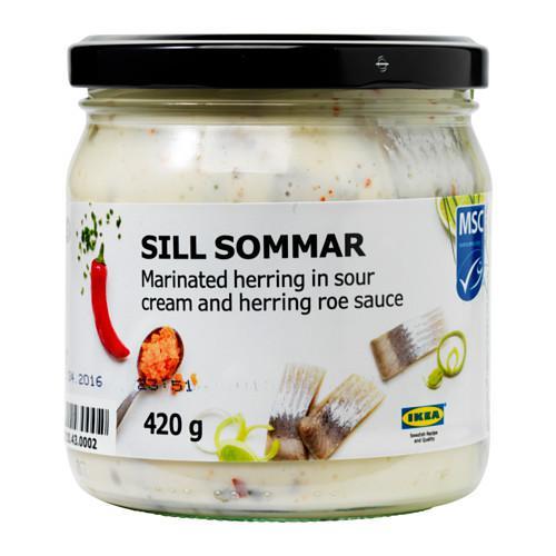 SILL SOMMAR Маринованн сельдь с икорным соусом