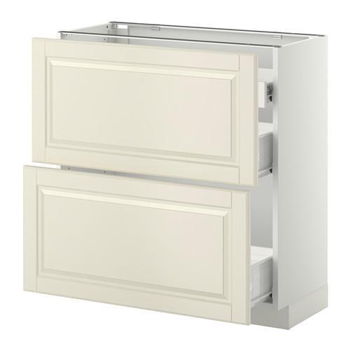 VERFAHREN / FORVARA Nap Schrank 2 FRNT PNL / 1nizk / 2sr Schubladen - weiß, mit einem Hauch von Weiß Budbin, 80x37 cm