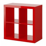EXPEDIT Shelving unit - high-gloss red