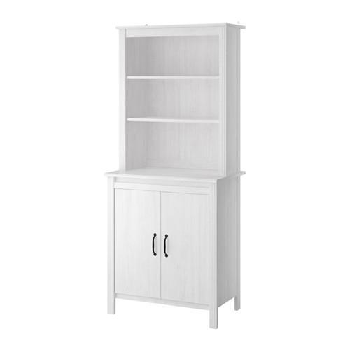 БРУСАЛИ Высокий шкаф с высокой дверцей - белый