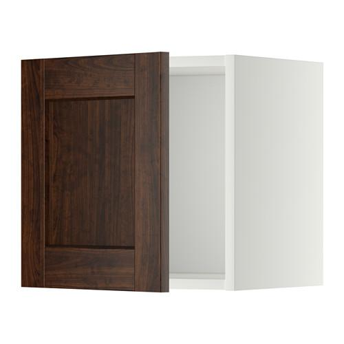 МЕТОД Шкаф навесной - 40x40 см, Эдсерум под дерево коричневый, белый