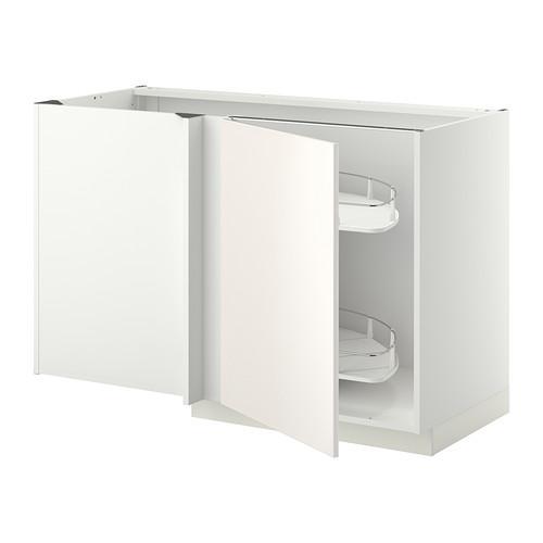 МЕТОД Угловой напол шкаф с выдвижн секц - Веддинге белый, белый