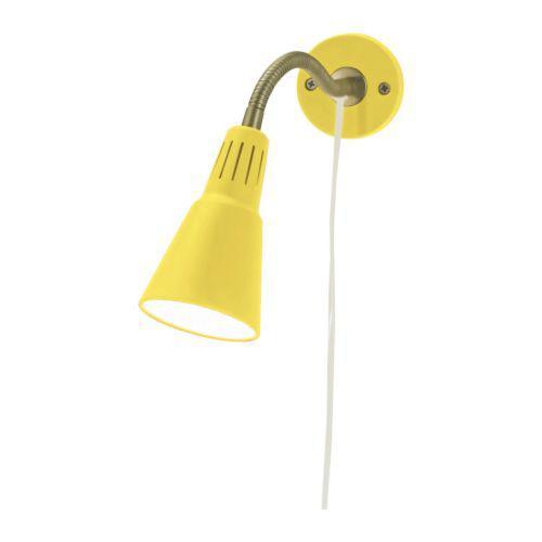 КВАРТ Настенный софит/лампа с зажимом - желтый