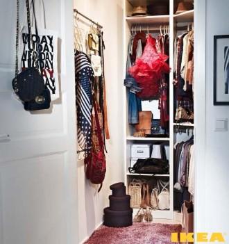 Интерьер гардероба от ИКЕА