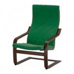 ПОЭНГ Кресло - Сандбакка зеленый, коричневый