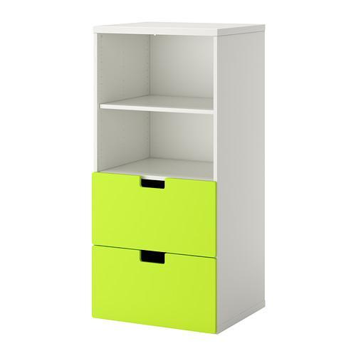 СТУВА Комбинация д/хранения - белый/зеленый