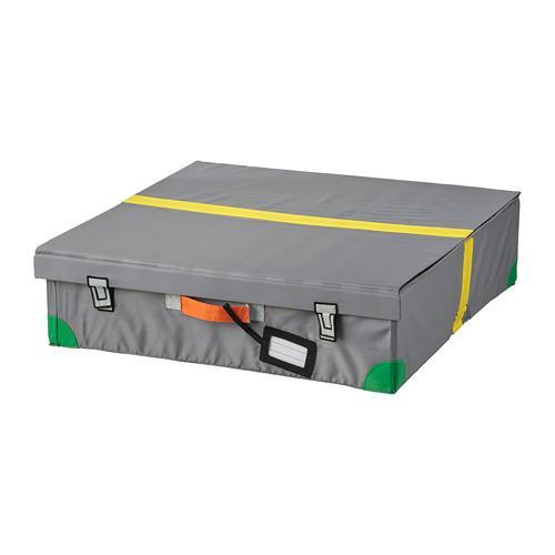 FLYTTBAR box letto grigio scuro