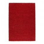 АЛЬХЕДЕ Ковер, длинный ворс - красный, 160x240 см