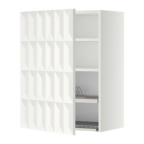 МЕТОД Шкаф навесной с сушкой - 60x80 см, Гэррестад белый, белый