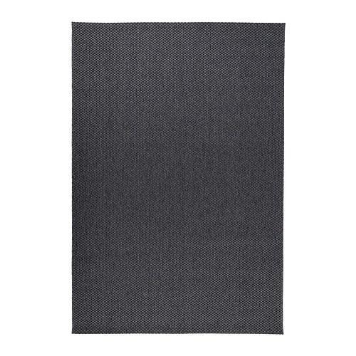 МОРУМ Ковер, безворсовый - темно-серый, 160x230 см