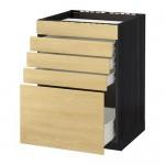 METHODE / wk FORVARA FLOOR d / var Bar / 5fasad / 4yasch - 60x60 cm Tingsrid Birke, schwarz Holz