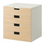 СТУВА Комбинация для хранения с ящиками - белый/береза