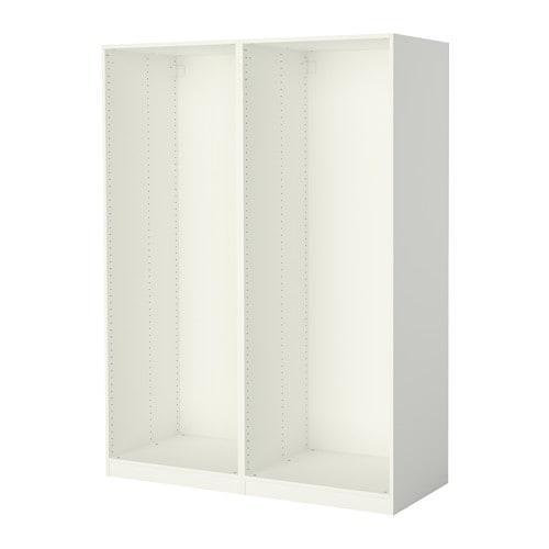 ПАКС 2 каркаса гардеробов - белый, 150x58x201 см