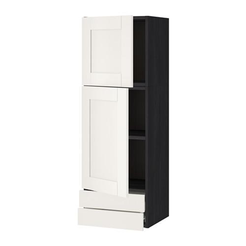 VERFAHREN / FORVARA Wandschrank / 2dvertsy / 2yaschika - Holz schwarz, weiß Sevedal, 40x120 cm