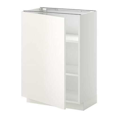 МЕТОД Напольный шкаф с полками - 60x37 см, Веддинге белый, белый