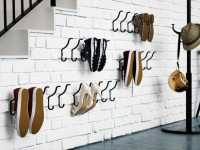 Cool idea for the open storage and drying shoes