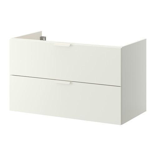 ГОДМОРГОН Шкаф для раковины с 2 ящ - белый, 100x47x58 см