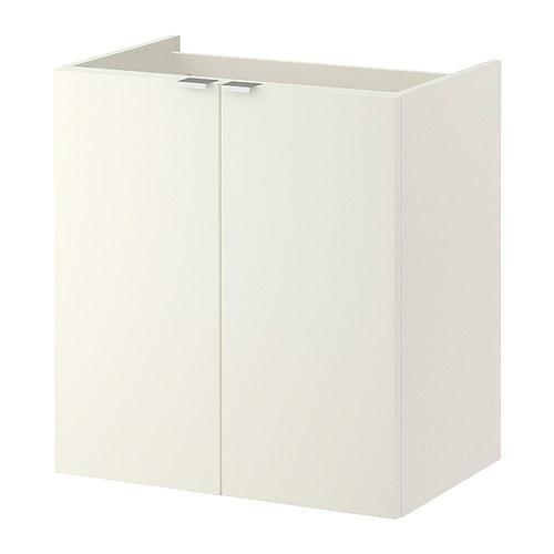 ЛИЛЛОНГЕН Шкаф под раковину с 2 дврц - белый, 60x38x64 см