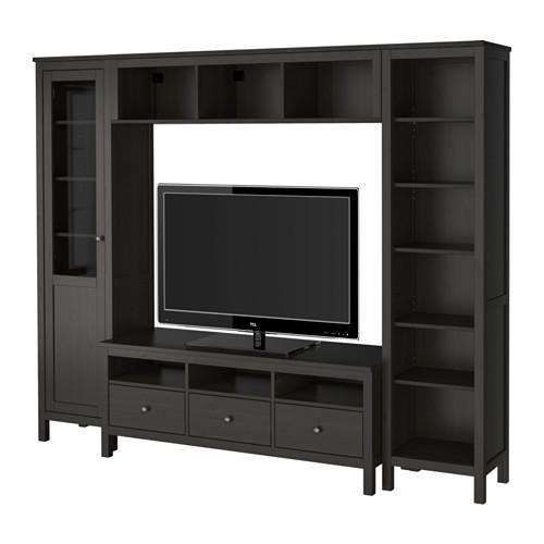 Hemnes Tv Meubel Zwart.Hemnes Kabinet Voor Tv Combinatie Zwart En Bruin 192 310 48