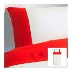 ФЭРГЛАВ Пододеяльник и 1 наволочка - красный/белый, 150x200/50x70 см