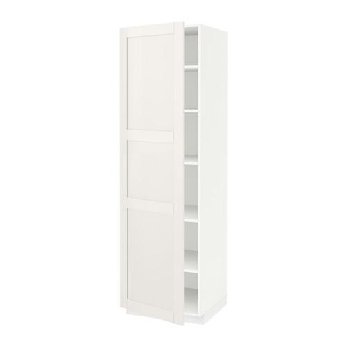 МЕТОД Высок шкаф с полками - 60x60x200 см, Сэведаль белый, белый