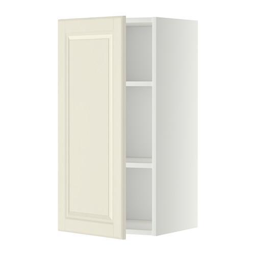 МЕТОД Шкаф навесной с полкой - 40x80 см, Будбин белый с оттенком, белый