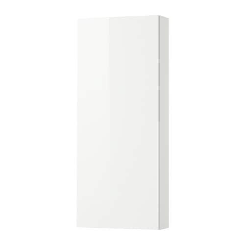 Cabinet GODMORGON mur avec porte 1 - Glossy White