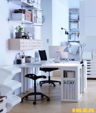 Интериорът на IKEA работен кабинет