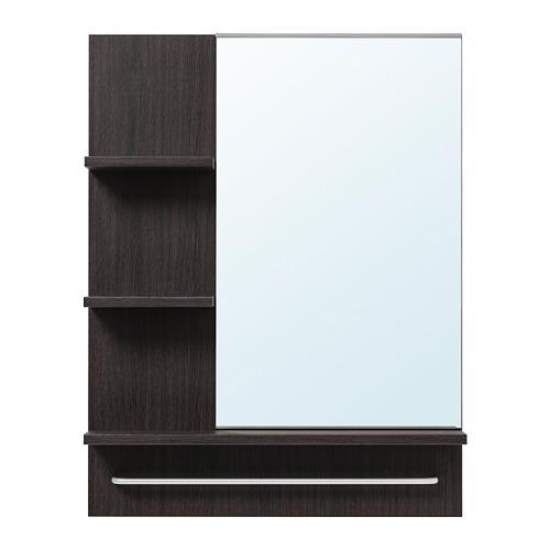 ЛИЛЛОНГЕН Зеркало - черно-коричневый