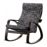 Poeng rocking chair - Eslёv black / white, black and brown
