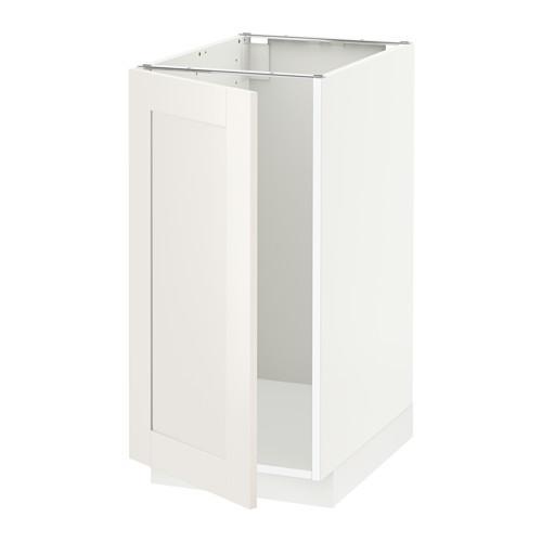МЕТОД Наполный шкаф д/мойки/мусорн конт - Сэведаль белый, белый