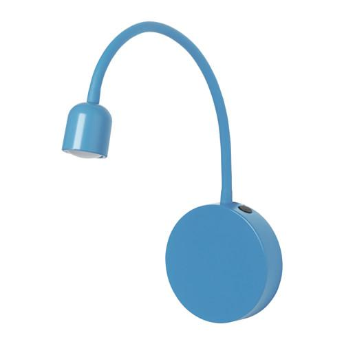 BLOVIK Sconce, LED - batteria-powered blu