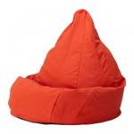 ОЛМЕ Чехол на пуфик-мешок - Висле красно-оранжевый