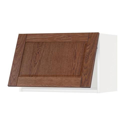 МЕТОД Горизонтальный навесной шкаф - 60x40 см, Филипстад коричневый, белый