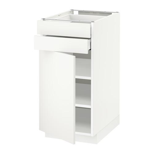 МЕТОД / МАКСИМЕРА Напольный шкаф с дверцей/2 ящиками - 40x60 см, Хэггеби белый, белый