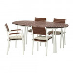 VINDALSHЁ table + 4 chairs with armrests