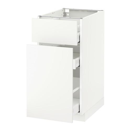 МЕТОД / МАКСИМЕРА Напольн шкаф/выдвижн секц/ящик - 40x60 см, Хэггеби белый, белый