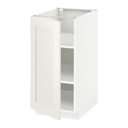 МЕТОД Напольный шкаф с полками - белый, Сэведаль белый, 40x60 см