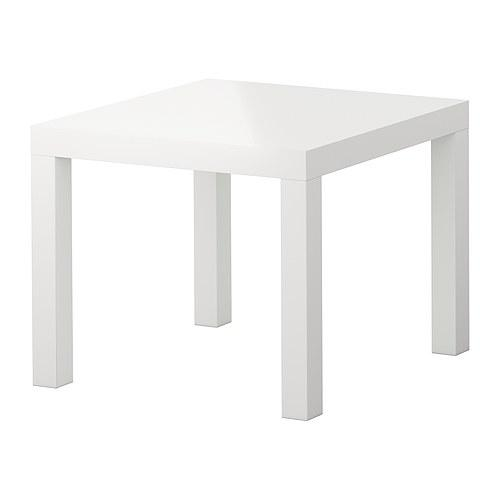 LACK table d'appoint blanc brillant 55x55x45 cm