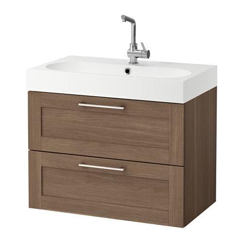 GODMORGON / Bråviken armoire coule avec tiroirs 2 - noyer