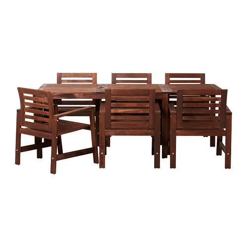 ЭПЛАРО Стол и 6 стульев