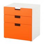 СТУВА Комод с 3 ящиками - оранжевый