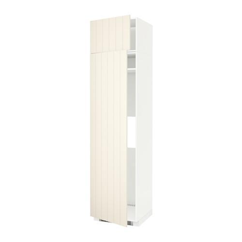 МЕТОД Выс шкаф д/холодильн или морозильн - 60x60x240 см, Хитарп белый с оттенком, белый