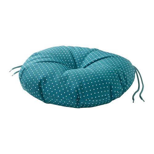 YTTERÖN cuscino per sedia da giardino blu Ø35 cm